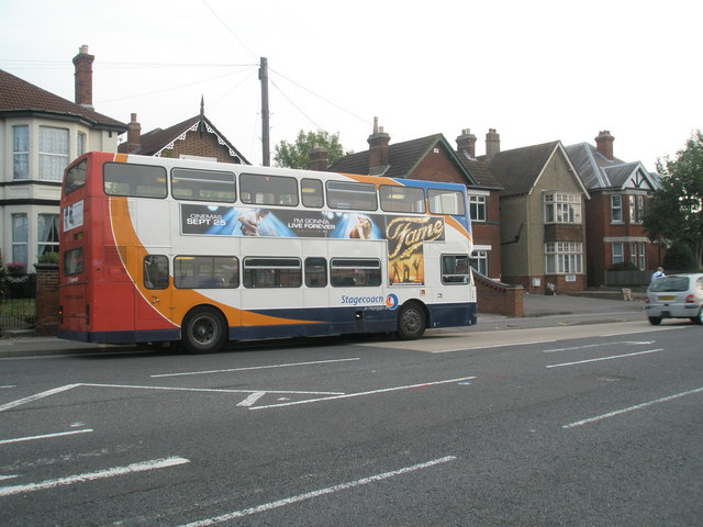 Bus parked in West Street