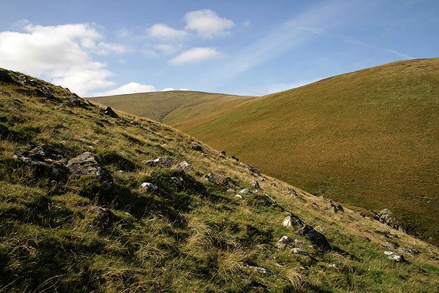 The northwest ridge of Crumley Hill