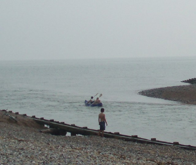 Canoeists heading out to sea