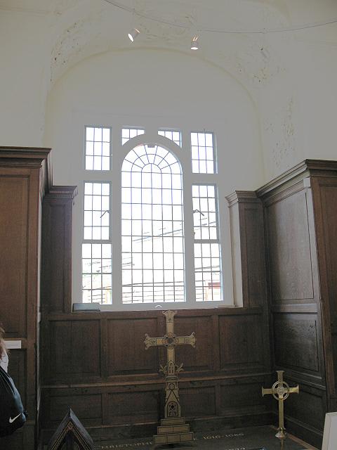 Boone's Chapel: interior