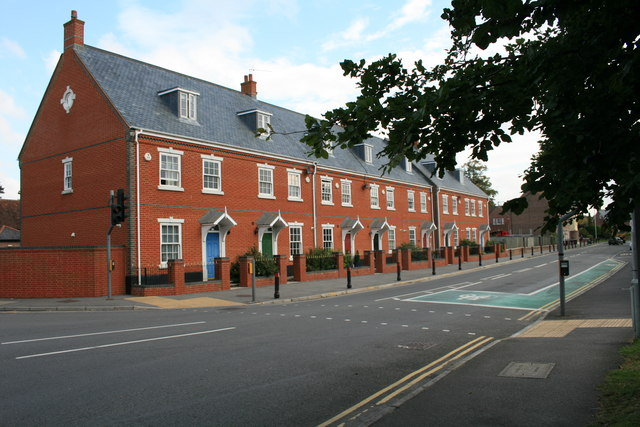 Houses in Wimborne Road, Blandford Forum