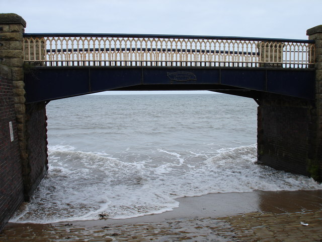 Footbridge on Filey promenade