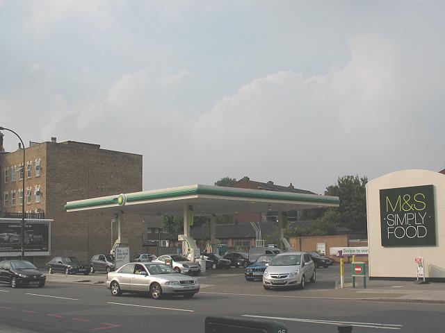 BP filling station on Lee High Road