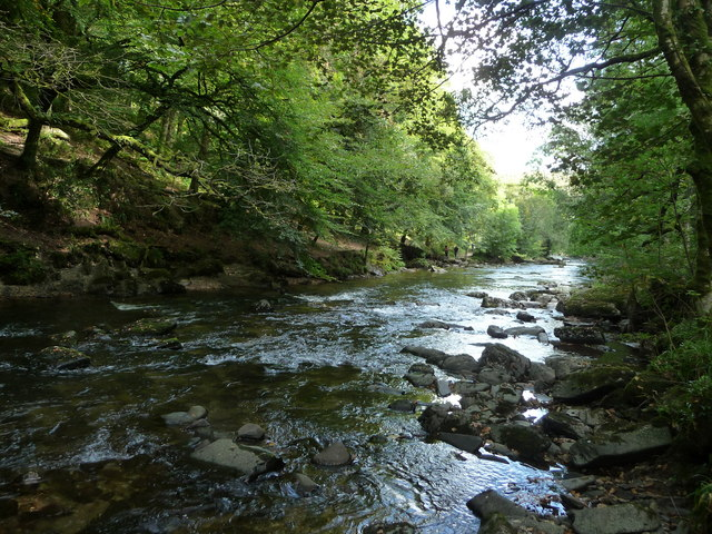 Exmoor : The River Barle in Tarr Steps Woods
