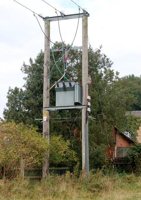 Transformer supplying south side of Napton village