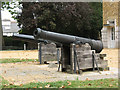 TQ3975 : Pair of cannon at Manor House by Stephen Craven