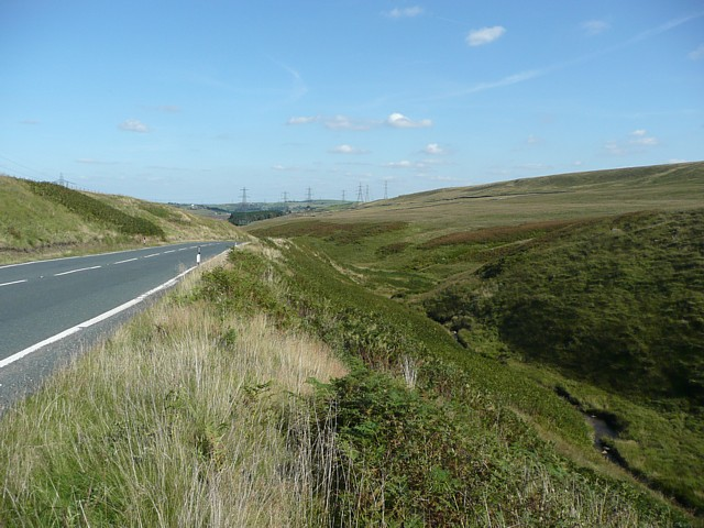 The A58 and the River Ryburn, Soyland