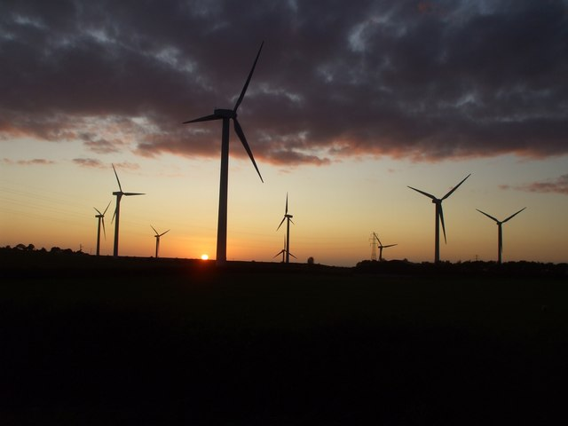 Sunset & windpower