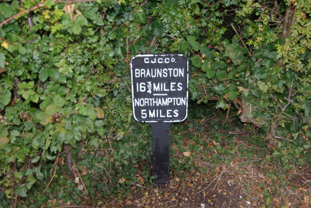 Milepost at Gayton Junction