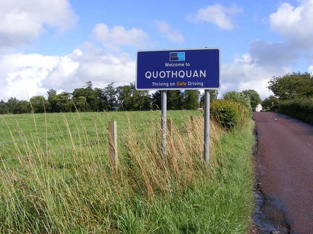 Approach to Quothquan village