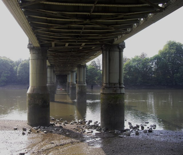 Under the railway bridge at Strand on the Green