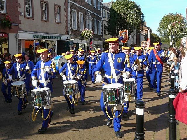 Orange Lodge parade on Scotch Street