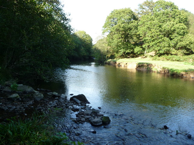 Exmoor : The River Barle at a Meander