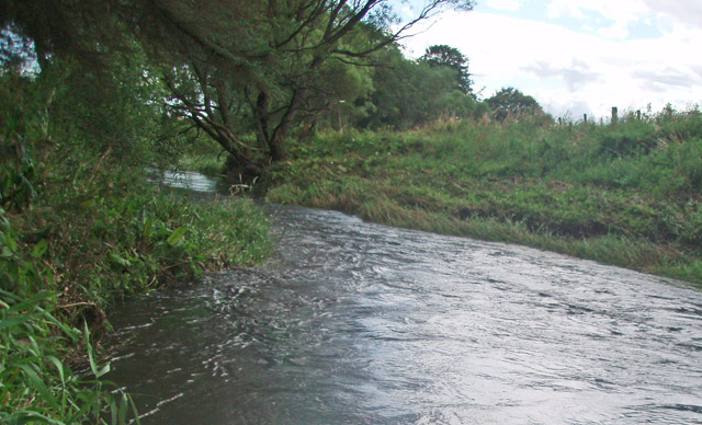 Looking downstream on the Luther Water