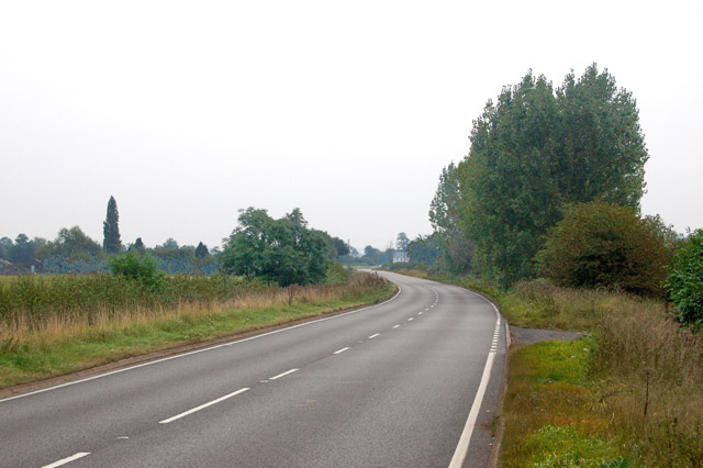 Looking east along the A425 towards Myler Bridge