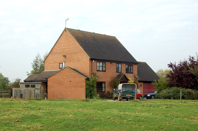 The farmhouse at Pastures Farm, Napton, from the footpath