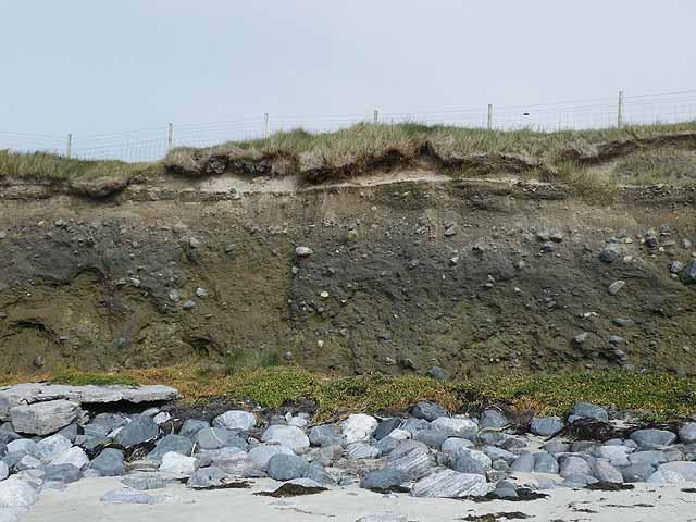 Boulder clay cliffs at Tràigh na h-Uidhe