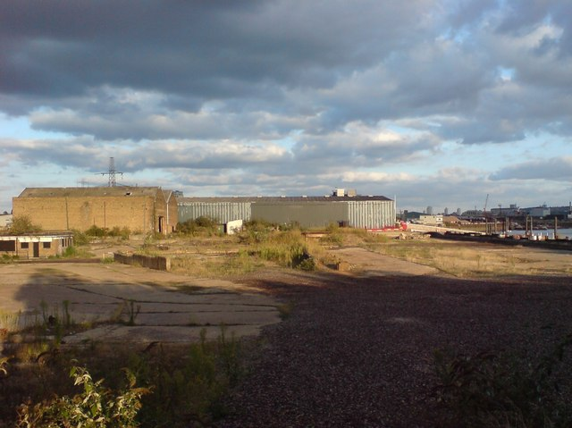 Waste Ground near East India Dock Basin
