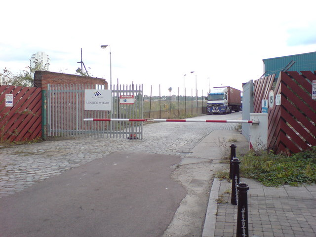 Entrance to Minoco Wharf