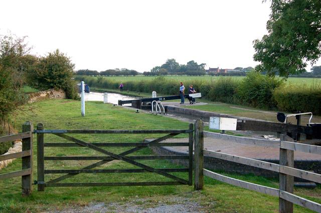 Lock 12 from bridge 115, Oxford Canal, napton