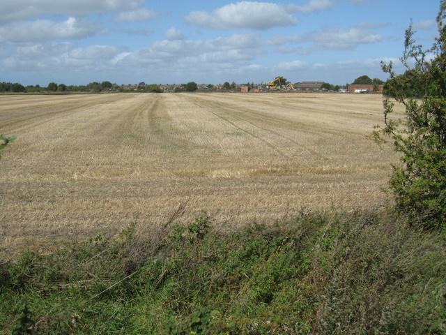 Harvested field at Saltney