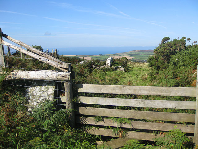 View from a footpath near the Strumble VOR