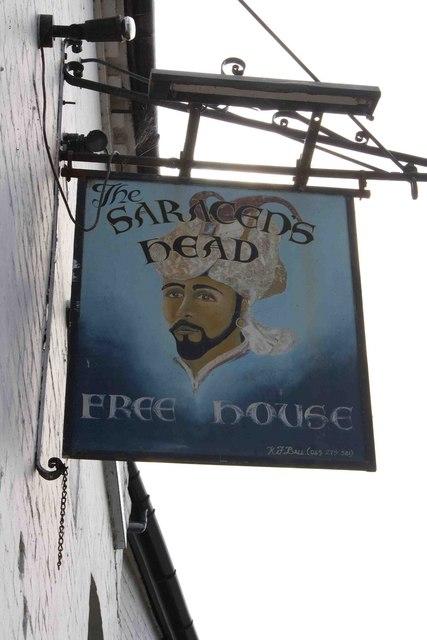 Saracen's Head pubsign