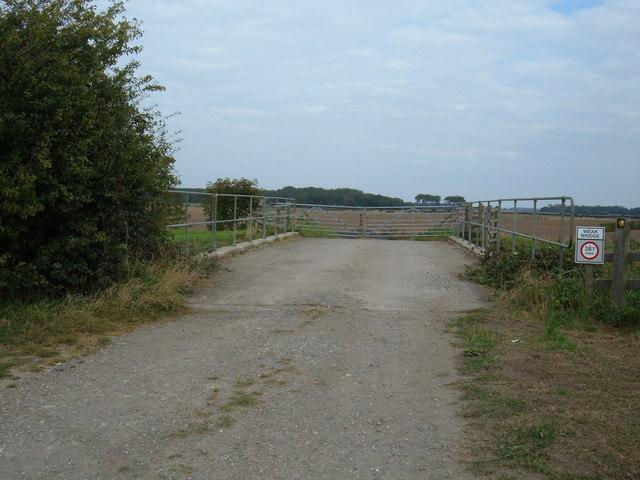 Weak Bridge over Catchwater Drain