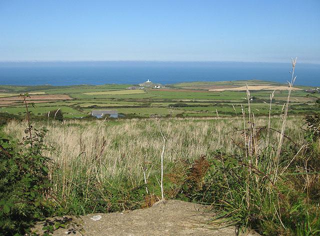 Patchwork of coastal farmland near Strumble Head
