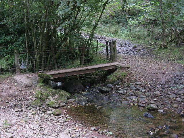 Footbridge on Nant Dwfn