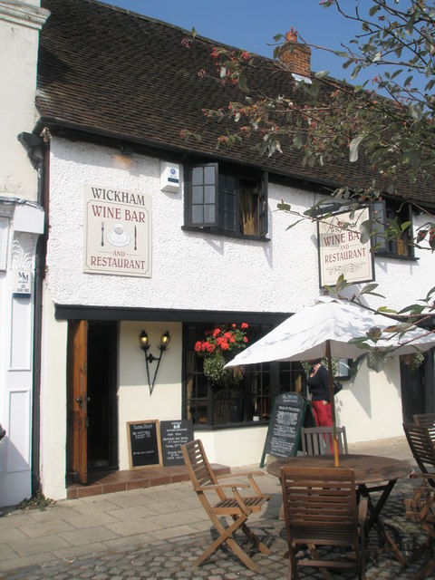 Wine bar in The Square, Wickham