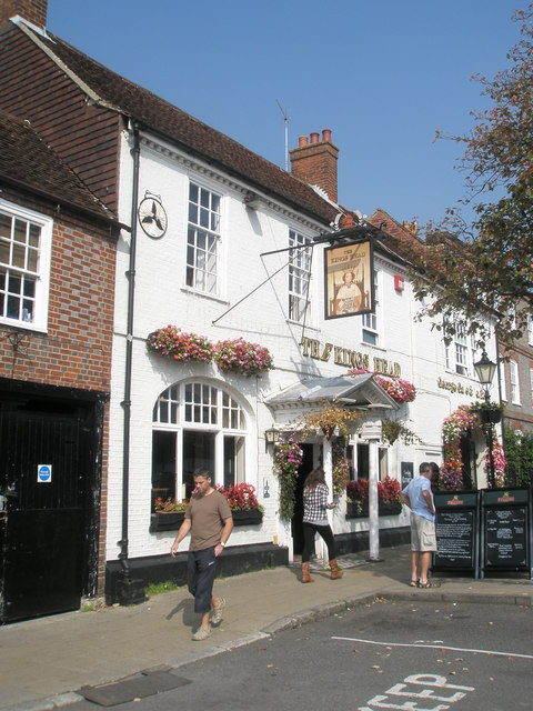 Early autumn outside The King's Head