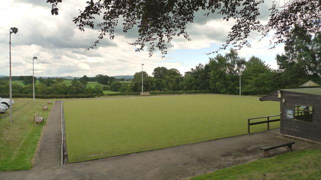 The bowling green at Siddington's village hall