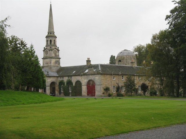 Stable block and doocot at Penicuik House
