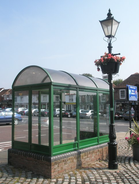 Bus shelter in The Square at Wickham