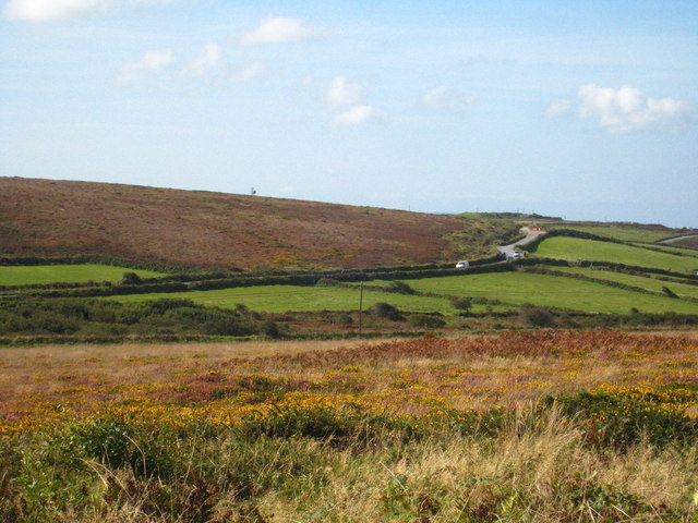 Looking south west from Higher Tregerest