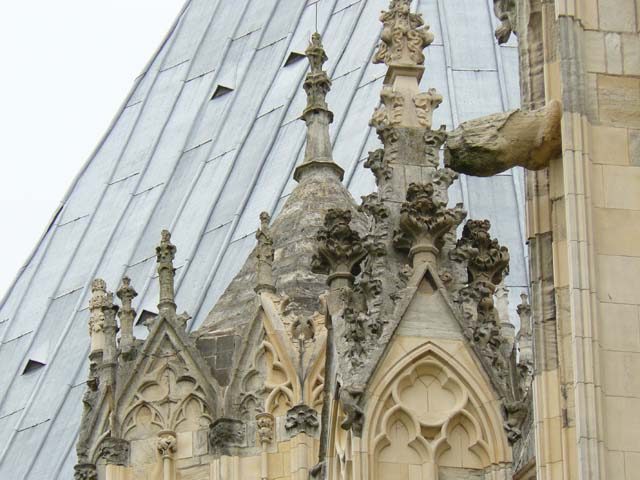 York Minster, old stonework replaced by new