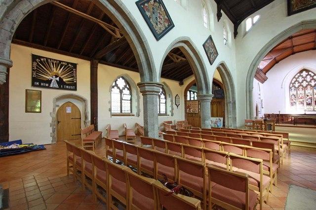 St Mary the Virgin, Great Baddow, Essex - North arcade
