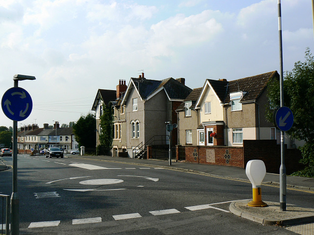 The western end of Kingshill Road, Swindon