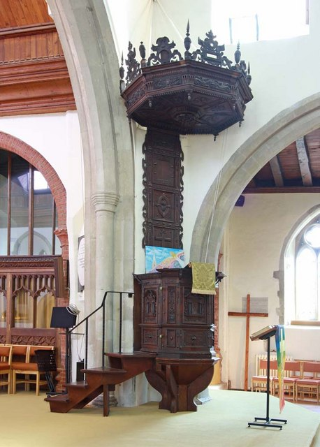 St Mary the Virgin, Great Baddow, Essex - Pulpit