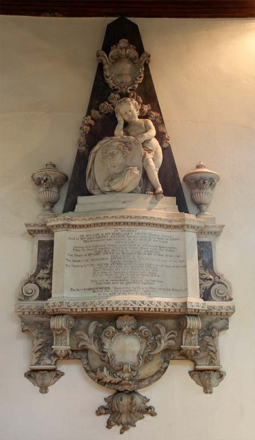 St Mary the Virgin, Great Baddow, Essex - Wall monument