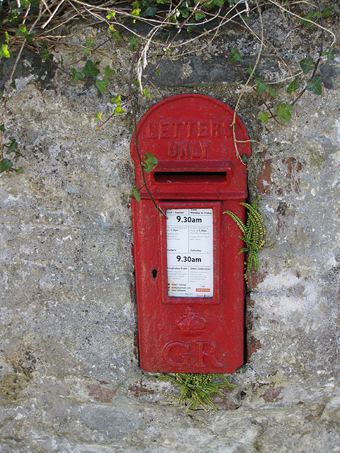 George V postbox, Rhosycaerau