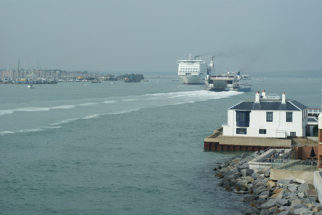 Brittany Ferries in Portsmouth Harbour