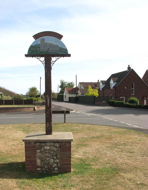 Lingwood village sign