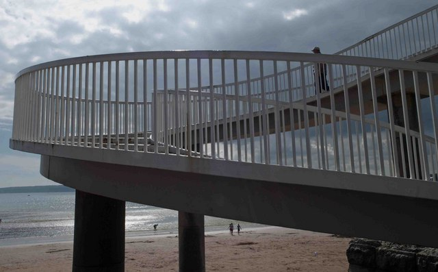Footbridge over A379 to Torre Abbey beach