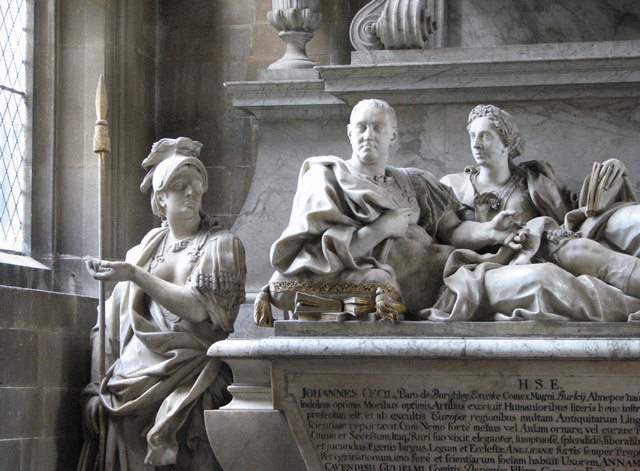 Stamford: St Martin - tomb of the Earl of Exeter, d. 1700