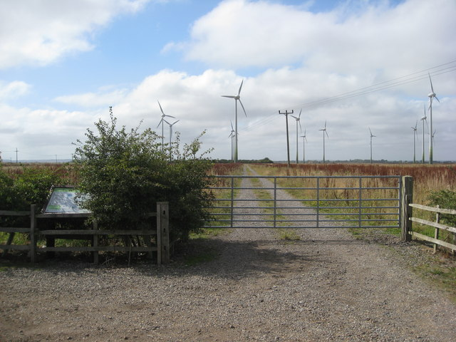 Mile Lane Car Park View of Mablethorpe Wind Park