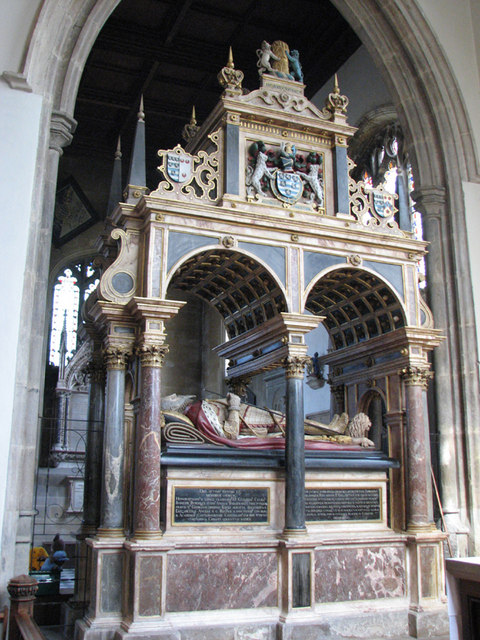 Stamford, St Martin - Tomb of Lord Burghley, d. 1598