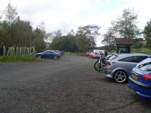 Car park at Carron Valley Forest