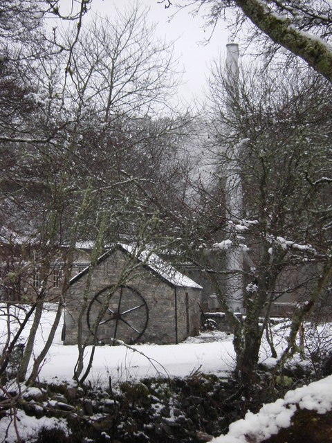 Drumguish Distillery in snow